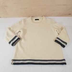 J Crew Triple Tipped Sweater Off White Size XS